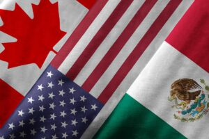 flags of the U.S. Mexico Canada